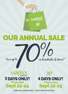 Save up to 70% during our Annual Sale!